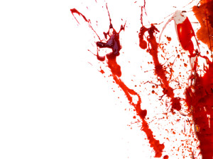 blood splatter murder